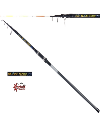 CAPTAIN 1525 CAST STRONG SURF KAMIŞ SİYAH 3,5 M 80 - 180 GR KAPALI BOY 125 CM