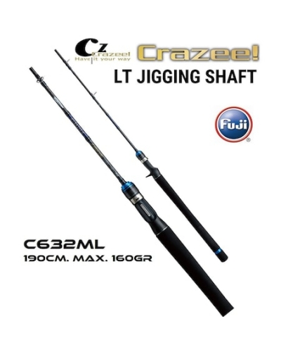 CRAZEE LT JIGGING SHAFT LIGHT JIGGING KAMIŞ SİYAH 1,90 M MAX 160 GR KAPALI BOYU 99 CM