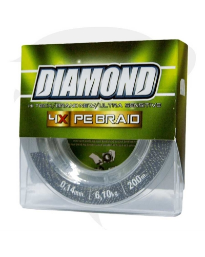 DIAMOND PE BRAID  ÖRGÜ İP 100 MT  YEŞİL  MİSİNA 0,20 MM 4X