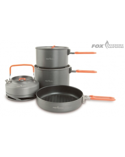 Fox Cookware 4Pc Set - 4Lü Yemek Seti Large