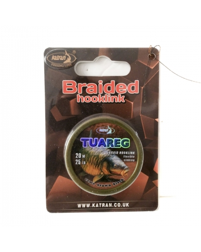 KATRAN BRAIDED HOOKLINK TUAREG CAMO BROWN-BLACK 20 M 25 LB (11,40 KG)