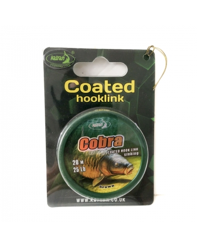 KATRAN COATED HOOKLINK OSMINOG CAMO GREEN-BLACK 10 M 25 LB (11,4 KG)