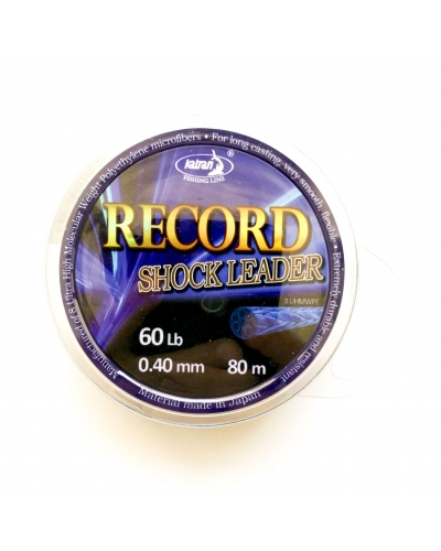KATRAN RECORD SHOCK LEADER SİYAH MİSİNA 0,35 MM 45 LB 80 MT