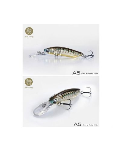 LUREFANS AIR FANG A5 MINI JERKBAIT 50 MM 4 GR FLOATING SAHTE BALIK COLOR: 15