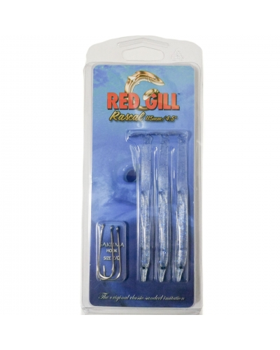 RED GILL RASCAL 11,5 CM 3 İĞNELİ SİLİKON SET COLOR:BLUE LUMINOUS