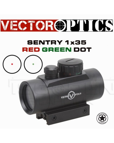 TAC VECTOR OPTİCS SENTRY 1X35 SİYAH RED DOT